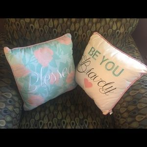 Decorative Embroidered Pillows